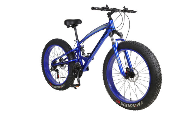 21 Speed 26quot; Mountain Bicycle Dual Suspension Shock 4.0 Fat Tire Snow Bike Blue $595.00