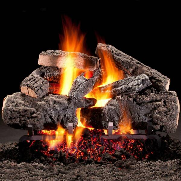 Hargrove 30-In Cross Timbers Vented Natural Gas Log SetH-Burner - Match Light