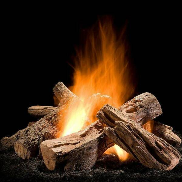Hargrove 30-In Wilderness Split Fire Pit Logs (Logs Only - Burner Not Included)