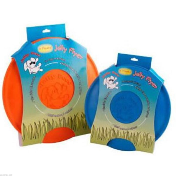 4 JOLLY PETS FLYER SOFT CATCH RUBBER DOG SILICONE FRISBEE TEETH MASSAGE PET TOY
