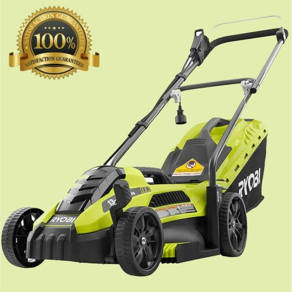 Electric Lawn Mower Push Walk Behind Backyard Garden Grass Yard Corded Ryobi New