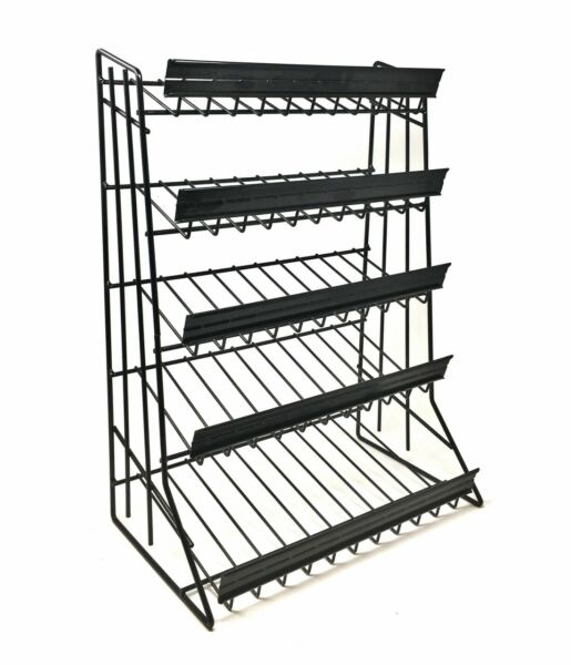 5 Tier Shelf Counter Top Candy Display Rack Black quot; FREE SHIPPING quot;