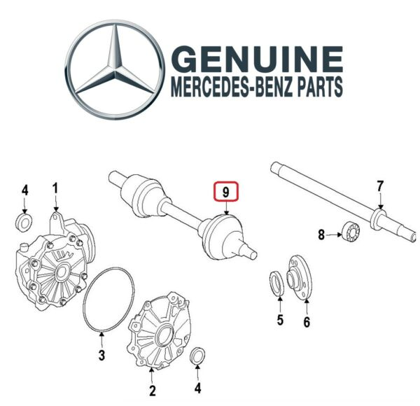 For Mercedes W213 E43 AMG 3.0L V6 Front Passenger Right CV Axle Assembly Genuine