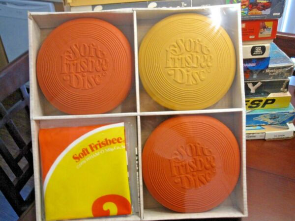 NEW! WHAM-O SOFT FRISBEE DISC GAME Vintage With Sealed Box & Rules