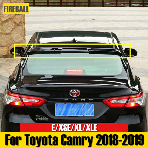 For Camry SE XSE XL XLE 2018-2019 Glossy Black Rear Roof Spoiler Top Wing Lip