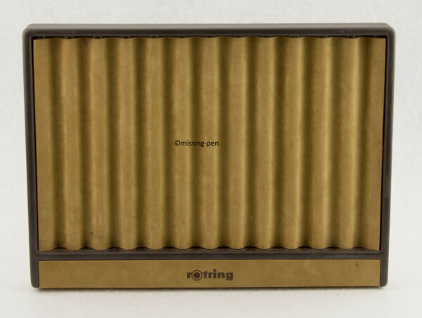 very rare and used Rotring Pen Tray for 12 pens in brown in good condition