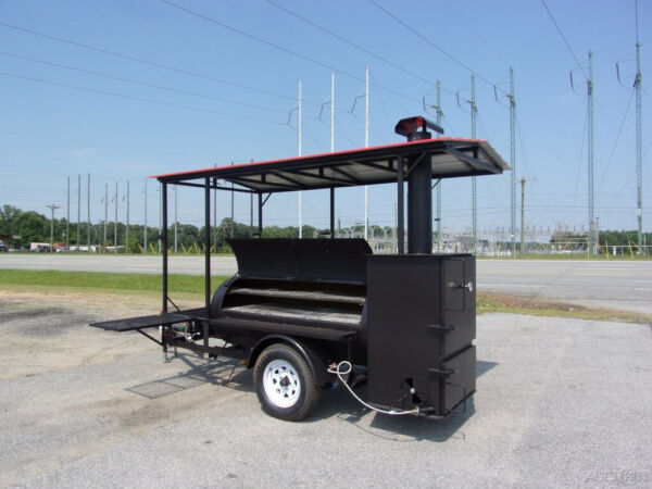 2019 Bubba Grill 250R 5x10 concession vending BBQ trailer with roof amp;rib box New