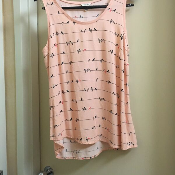 Large Pink Sonoma Tank With Birds *Free Shipping*
