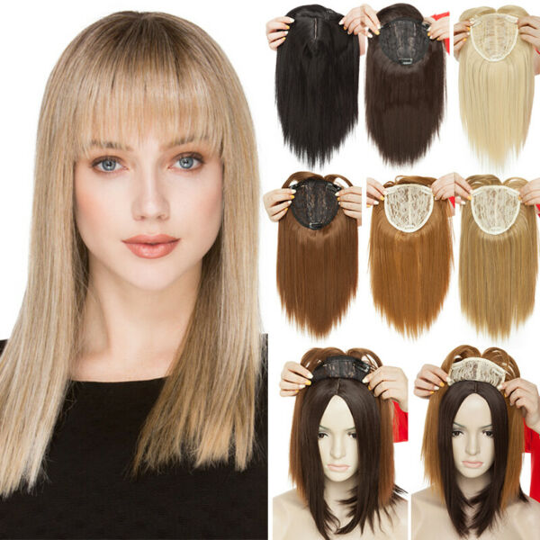 Synthetic Long Top Topper Clip In Hair Extension For Woman Thick As Human Hair