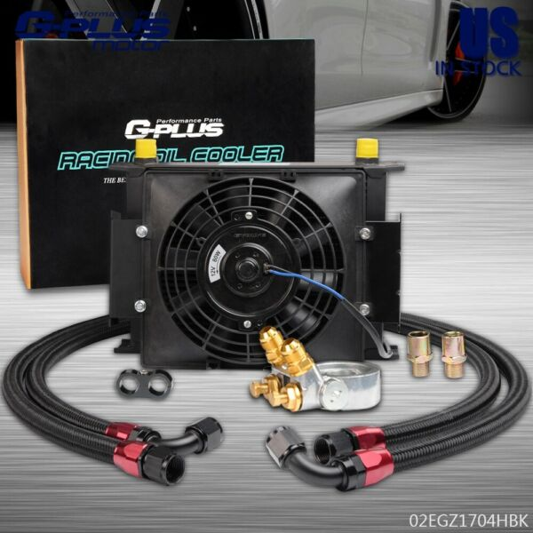 Universal 30 Row Engine Transmission 10AN Racing Oil Cooler + 7