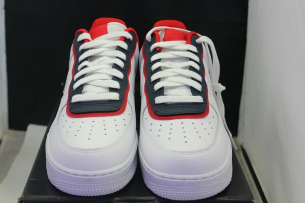 Nike Air Force 1 One LV8 Double Layer Obsidian Red Shoes AO2439-100 Size 10 DS