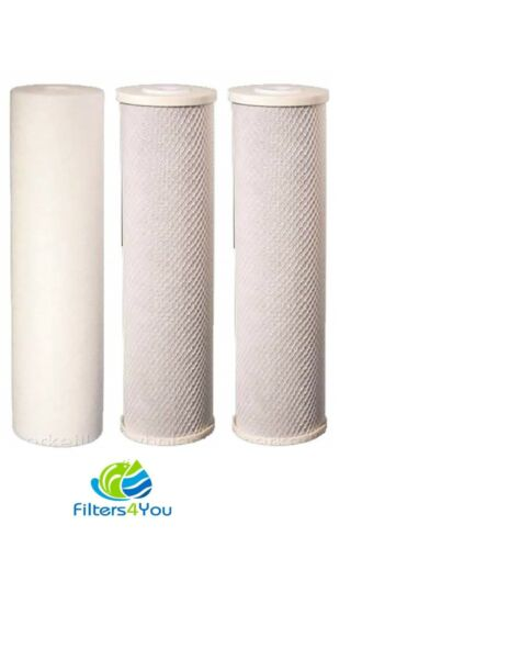 3 Reverse Osmosis Water Filter 2 Carbon Block 1 Sediment 5 Micron Replacement RO $17.99