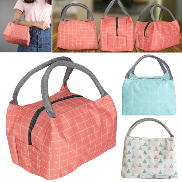 Insulated Lunch Bag BeachPicnicCamp Travel Food Box Women Tote Carry Handbags