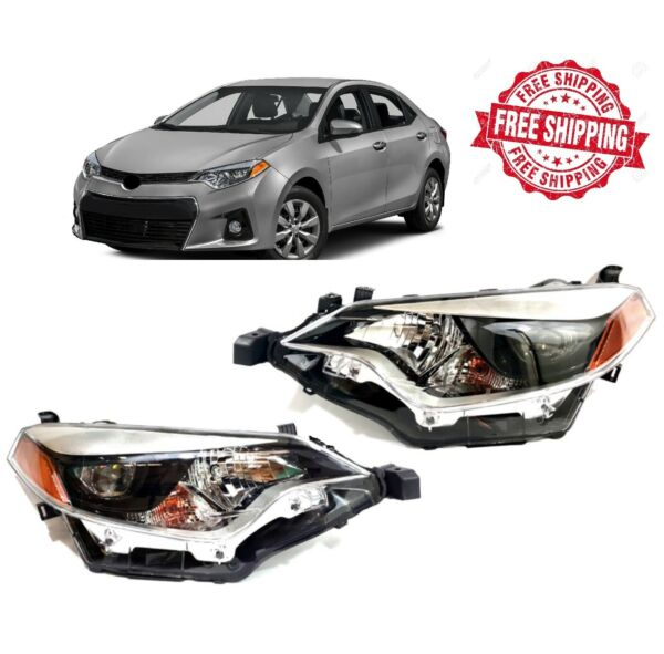 For 2014 2016 Toyota Corolla Headlight Factory Style Front Left Right Pair Set