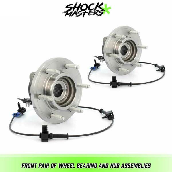 Front Pair Wheel Bearing & Hub Assemblies for 2006-2008 Hummer H3 w ABS