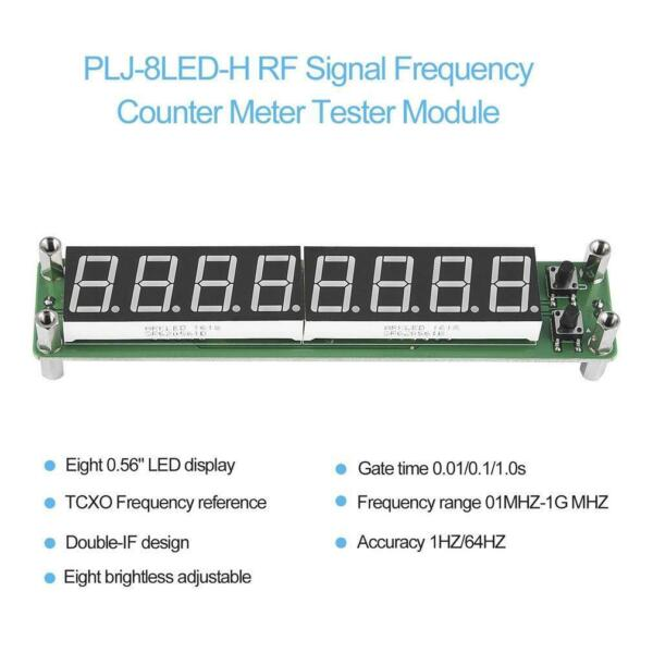 PLJ-8LED-H 8 Digit 0.1~1000MHz RF Signal Frequency Counter Meter Tester LED LJ