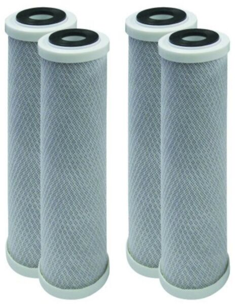 4 Pack Puroflo Reverse Osmosis Carbon Block Water Filter 5 Micron 10quot; x 2.5quot; RO $21.99