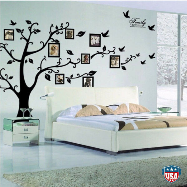 Family Tree Wall Decal Sticker Large Vinyl Photo Picture Frame Removable Home