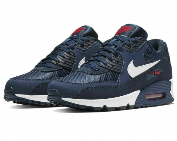 Nike Air Max 90 Midnight Navy Red White 🔥 BRAND NEW 🔥 Deadstock! AJ1285-403
