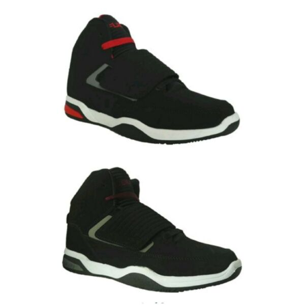 FUBU Mens Strap Black/Gray or Black/Red Athletic High Top Sneakers Shoes: 8-13