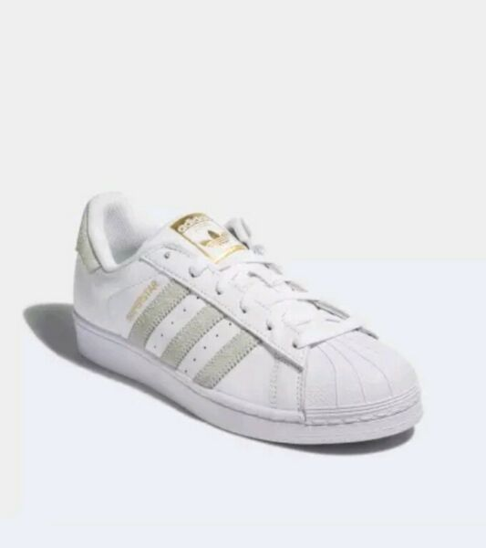 NEW RARE Adidas Superstar Foundation Shoes White Linen Leather Mens Sz 10 CP9502