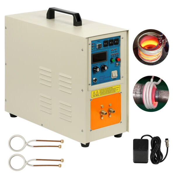 220V 30-100 KHz High Frequency Induction Heater Furnace 15 KW 2200 ℃ (3992 ℉)