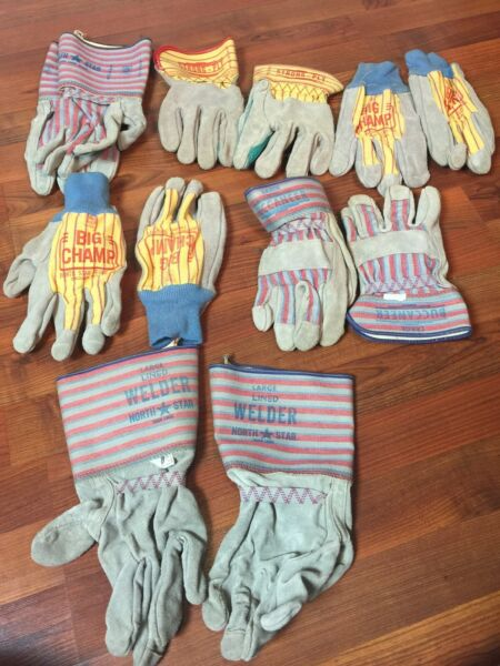 6 Pair Vintage Welding Leather Union Pacific Railroad Train Work Glove Large