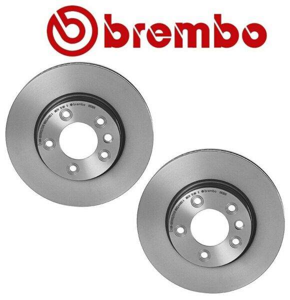 NEW Pair Set of 2 Front Brembo Disc Brake Rotors for Porsche Cayenne VW Touareg