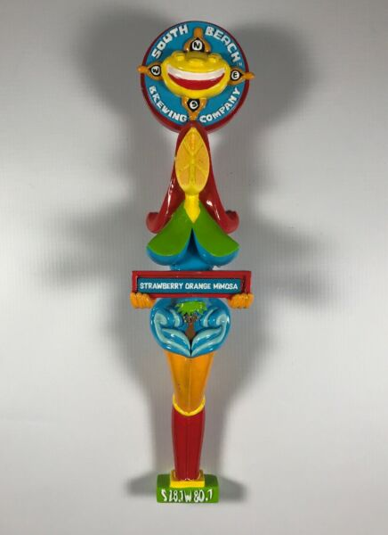 South Beach Brewing Company Strawberry Orange Mimosa Beer Tap Handle