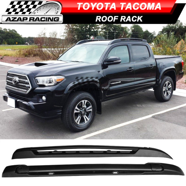 Fit For 05 06-18 Toyota Tacoma Double Cab Stowaway Roof Rack Black Cross Bar