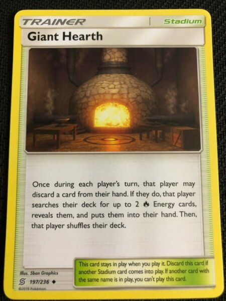 Pokemon : SM UNIFIED MINDS GIANT HEARTH 197236 UNCOMMON
