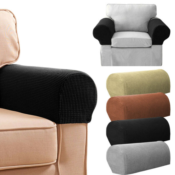 2Pcs Removable Chair Sofa Armrest Covers Stretch Set Arm Protectors Couch Cover $8.59