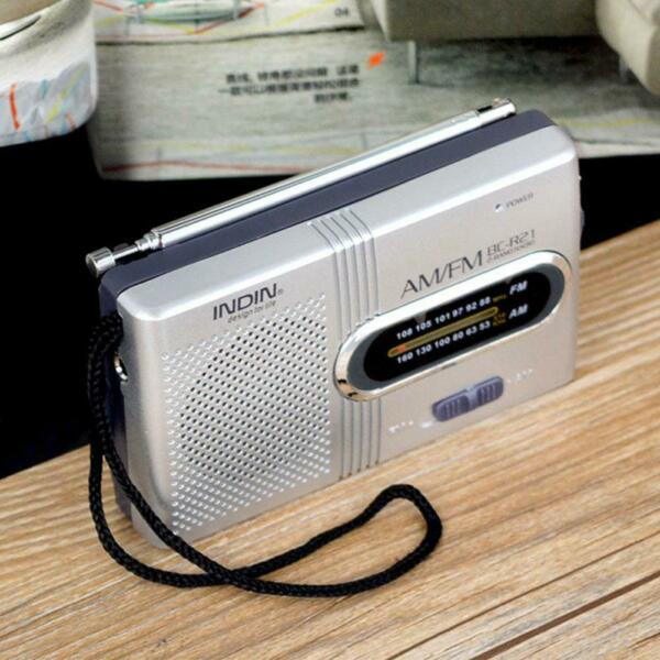AM FM Battery Operated Mini Portable Pocket Radio Receiver Best Reception LJ