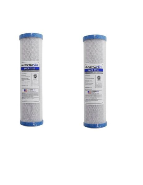 Hydronix SMCB 2510 NSF Carbon Block Filter 2.5quot; X 9 7 8quot; Length 0.5 Micron 2pack $22.49