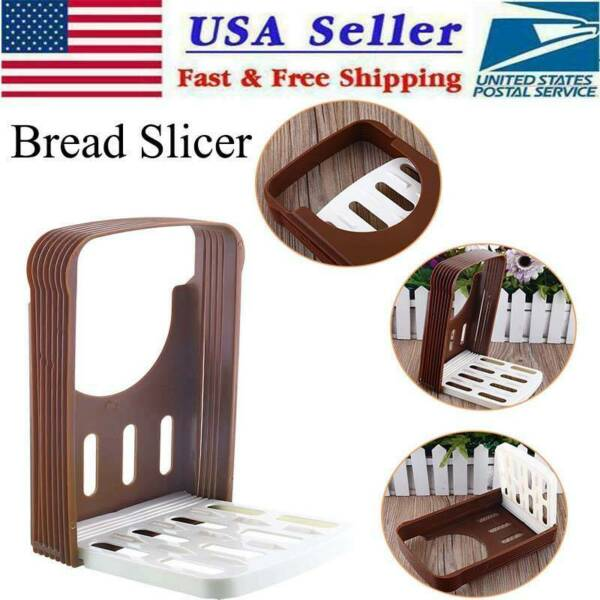 Kitchen Bread Loaf Toast Bun Cutter Slicer - Precise Cutting With Slicing Guide