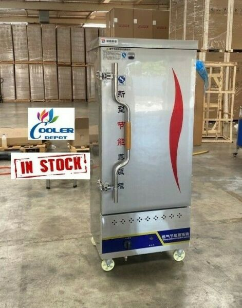 NEW Commercial Electric Or Gas Steam Warmer 12 Pan Cabinet Seafood Cooker $1921.45