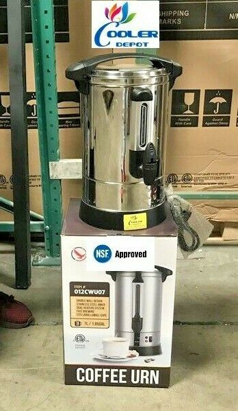 New 70 Cup Electric Coffee Maker Urn Machine Stainless Brewer Cafe Office NSF
