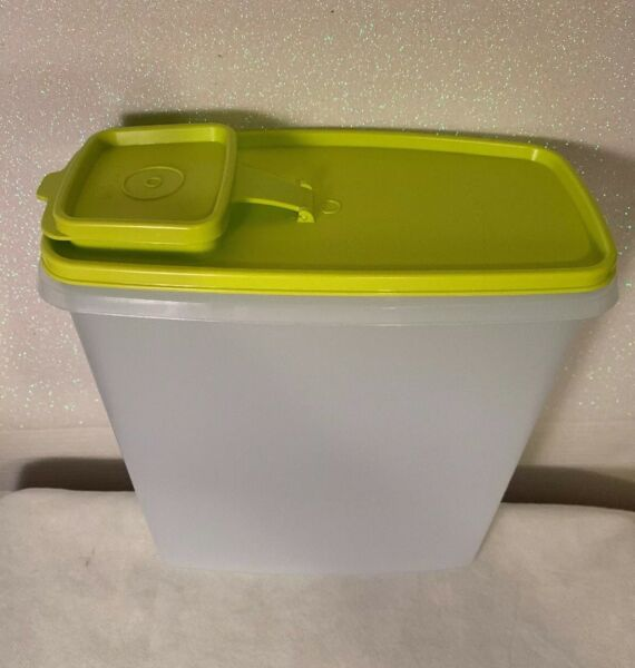 Tupperware New Modular Mates Cereal Super Storer GreenLime Seals
