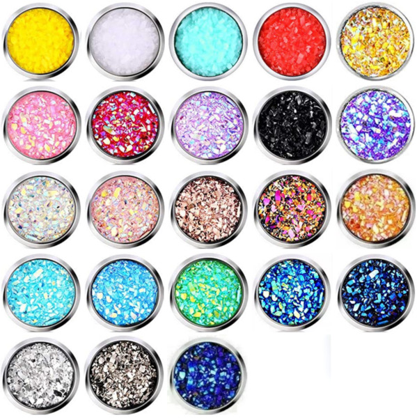 10mm faux Druzy Geode Large Stud Earrings 21 Colors Iridescent Glitter Stainless