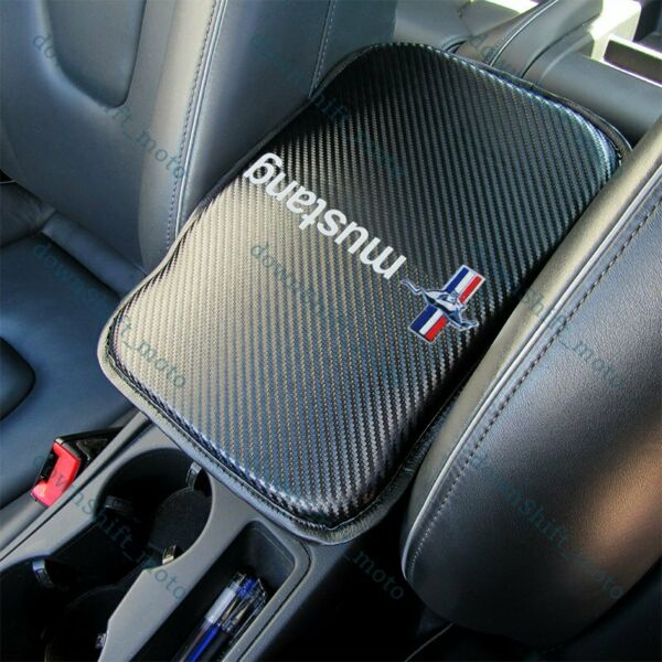 For FORD MUSTANG Carbon Fiber Car Center Console Armrest Cushion Mat Pad Cover $19.62