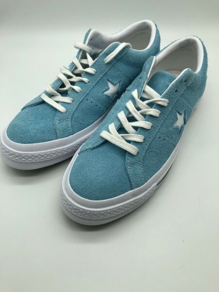 NEW Converse One Star OX 161575C Shoreline Blue/White/White Size 8