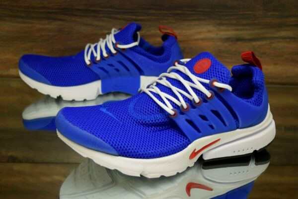 Nike Air Presto Essential Racer Blue Red 848187-408 Running Shoes Men Size 9, 10
