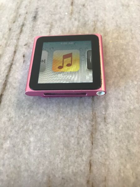 Apple iPod nano 6th Generation Pink (8GB) Hard to find a flaw.  New battery