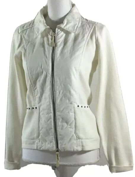 NWT Piece of Blue Womens Jacket White Size S Blue Willis Danish Cotton #2 Of 500