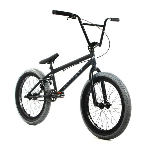 Elite BMX 20quot; Destro Bicycle Freestyle Bike 3 Piece Crank Black Grey 2020 $349.00