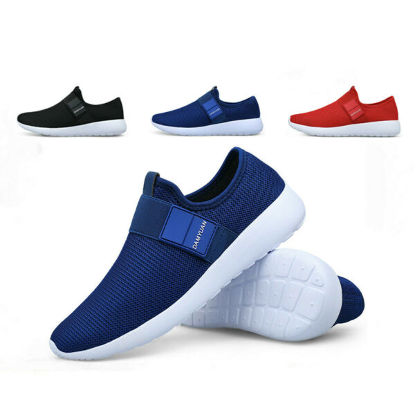 Mens Sneakers Slip-on Lightweight Athletic Running Walking Gym Tennis Shoes 12