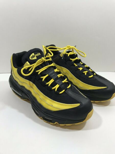 Nike Air Max 95 Frequency Pack Yellow White Black Running Mens AV7939 001 Sz 10