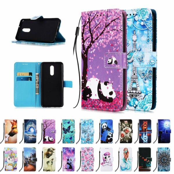 For LG Stylo 5 Stylo 4 Case Cover Patterned Leather Strap Card Slot Flip Wallet $8.45