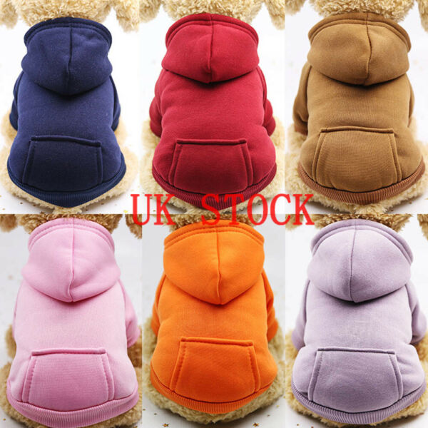 Soft Cotton Dog Jumpsuit Winter Dog Clothes Small Puppy Coat Pet Outfits Hoodie