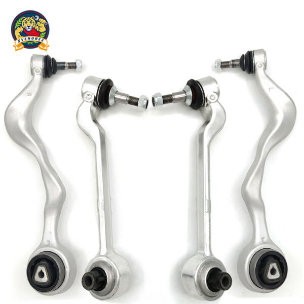 New 4 pc Front Lower Forward & Rearward Control Arms wBall Joints for BMW - RWD